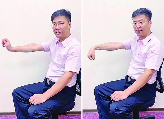 腕隧道症候群患者的保養動作。