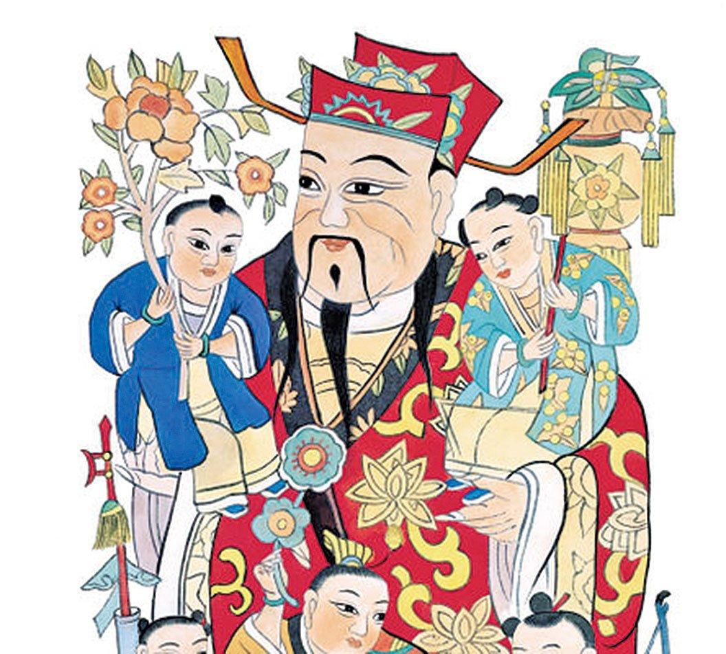 古時人們在中國新年到來前夕,在室內貼年畫,戶上貼門神。年畫包含對眾神及祖先的敬意,祈福避邪的意願。(大紀元圖片)