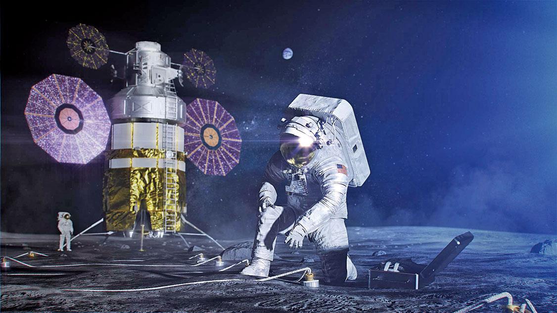 探索月球示意圖。(NASA)