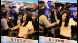 港警隨意抓少女 當街性暴力畫面引眾怒