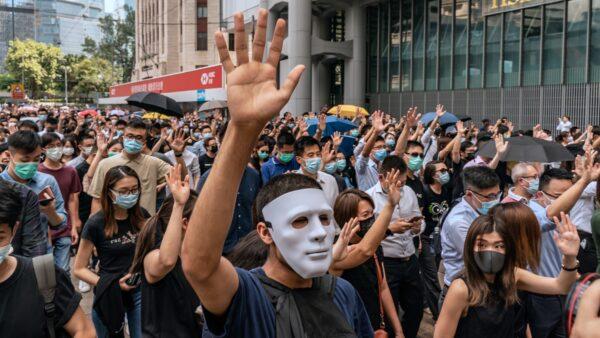 有美媒說,如果北京強推《基本法》第23條立法,勢必爆發另一場更大的抗爭。( Anthony Kwan/Getty Images)