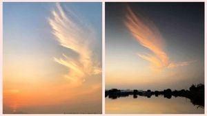 「鳳凰雲」飛臨香港 港人祈願:香港將浴火重生