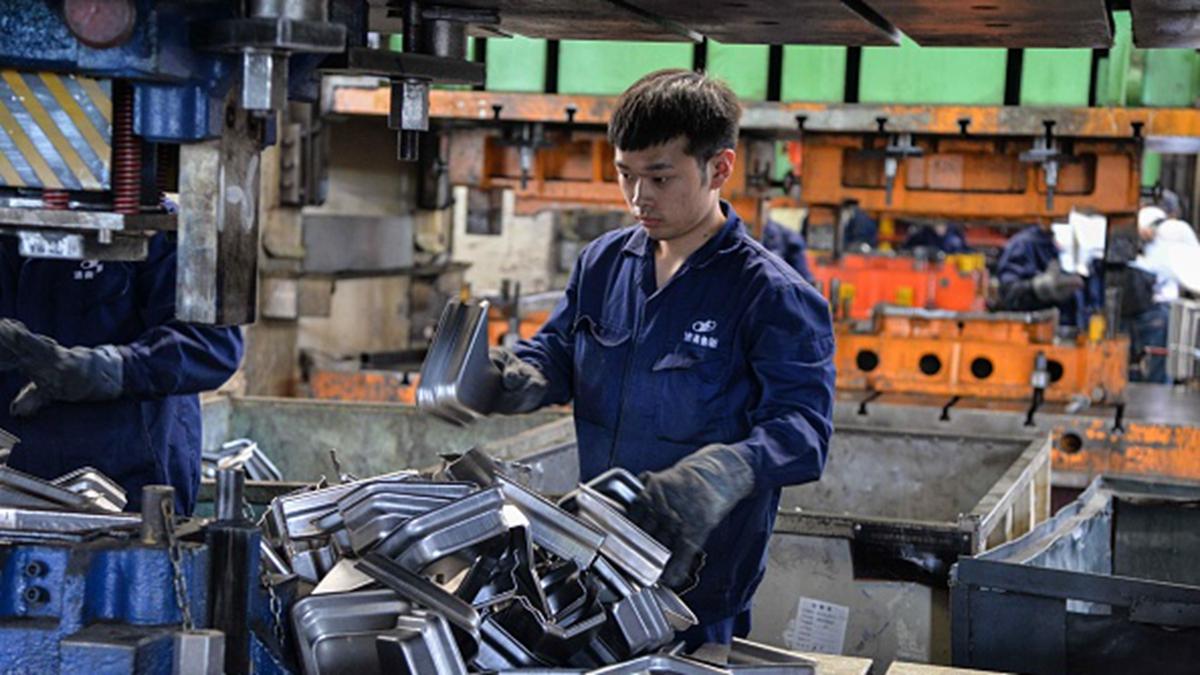 中美貿易戰引發中國企業倒閉潮。(STR/AFP via Getty Images)