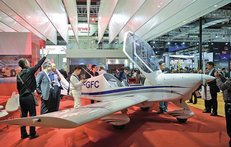 11月6日,第二屆上海進博會展廳一角。 (AFP)