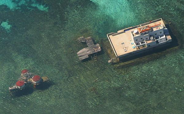 「菲律賓對中國 」南海仲裁案,設於海牙的常設仲裁法院今天公布結果,裁決中國大陸9段線在國際法之下沒有效力,而南沙群島的所有海上地物,均為礁岩,包括太平島在內。(AFP)