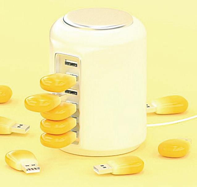 粟米粒模樣的USB,看起來很可愛吧!(supermarket kakamu Instragram)