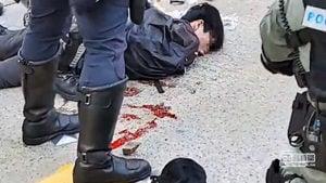 香港中槍男孩腎被打爆 一度失去心跳