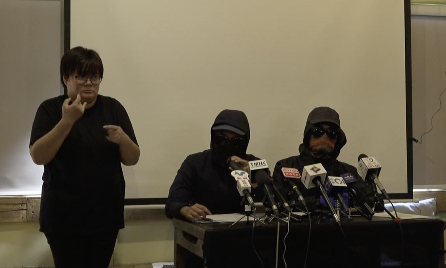 11月11日,交警開真槍射向抗爭者腹部,目前傷者情況危殆。民間記者會召開緊急新聞發佈會,呼籲港人必須要全面覺醒,並表示有信心推翻暴政。(視頻截圖)