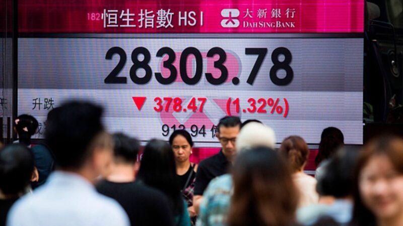 11月11日,香港局勢再度惡化,港股一度大跌逾800點。資料圖(ISAAC LAWRENCE/AFP via Getty Images)