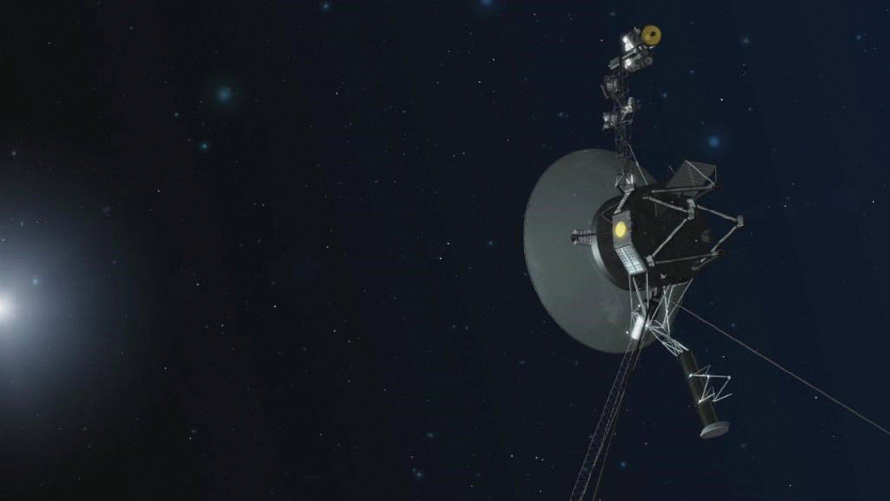 NASA先前宣佈,旅行家二號2018年11月5日快速進入星際空間,一度接近到距太陽約177億公里之處。圖為旅行家二號概念圖。(NASA)