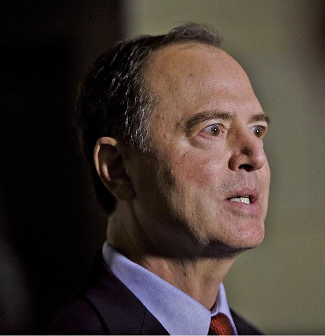 眾 議 院 情 報 委 員 會(House Intelligence Committee) 主席、加州民主黨議員謝安達 (Adam Schiff)。(AFP)
