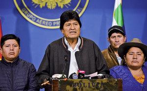 玻利維亞總統宣佈辭職