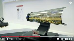 LG超薄彈性顯示器 可像報紙一樣捲曲