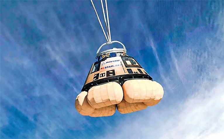 波音完成逃生系統測試 星際飛機可望明年上太空