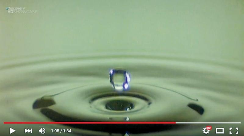 高速攝影機下水滴入水奇觀