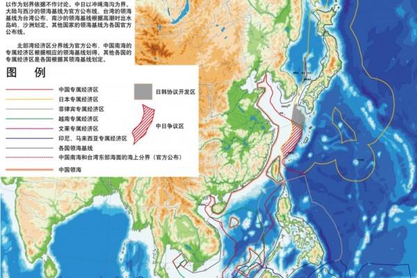 南海爭議區域。(網絡圖片)