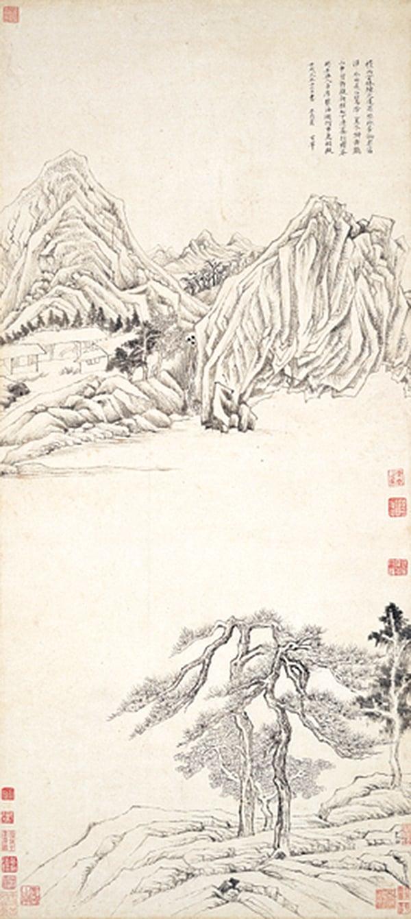 董其昌《王維詩意圖》(國立歷史博物館/清翫雅集提供)