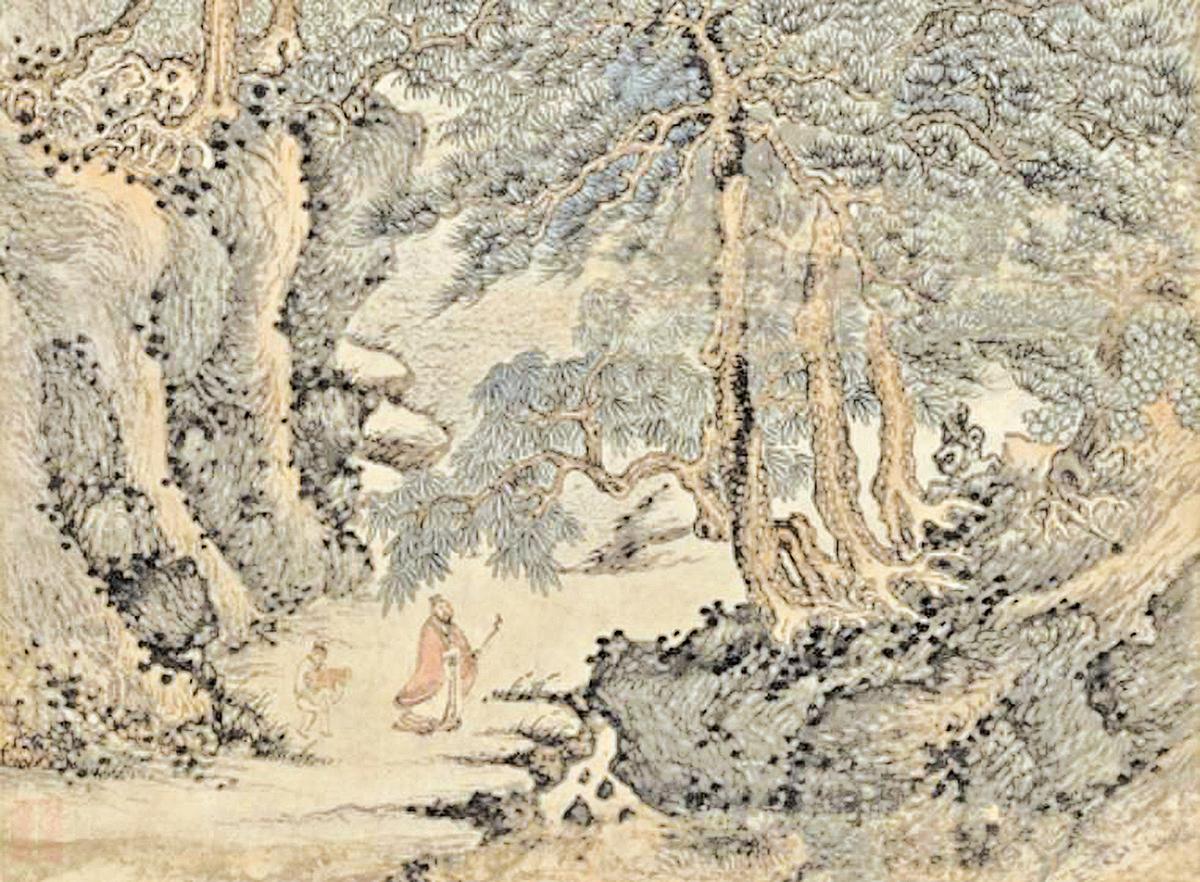 明‧丁雲鵬《東山圖》(公有領域)