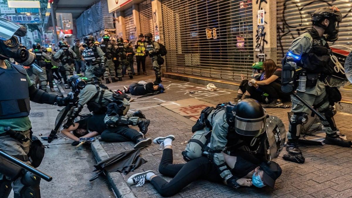 有中共前刑警隊長爆料,中共軍警和作戰部隊已經進入香港,目標是抗爭港人。(Anthony Kwan/Getty Images)