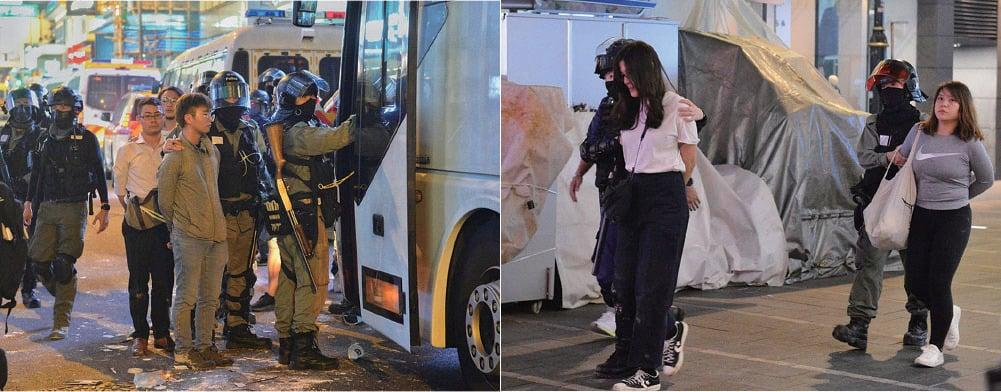 特警軍人及港警組成作戰部隊