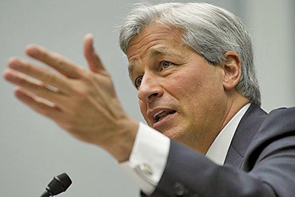 財經界俗稱「小摩」的摩根大通行政總裁戴蒙(Jamie Dimon)。(Saul LOEB/AFP)