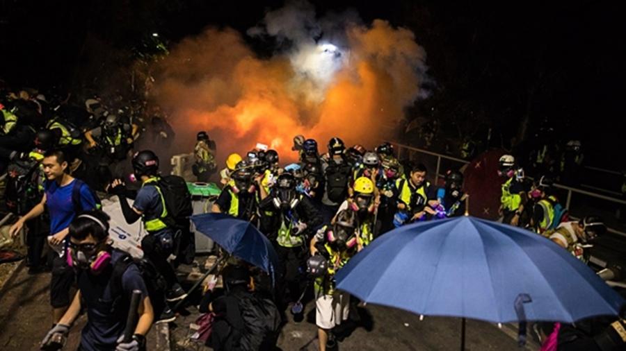 南韓大學挺香港 與中國留學生衝突打成一團
