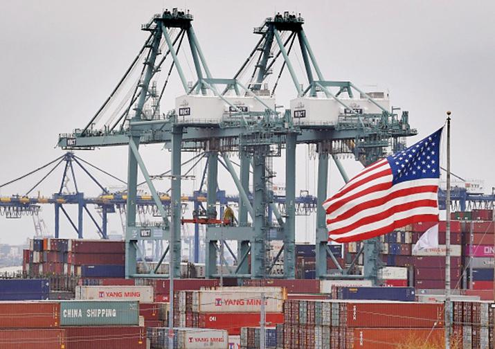 美中貿易第一階段協議停滯不前,雙方在幾個問題上意見分歧。圖為示意圖。(AFP)