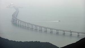 港珠澳大橋通車1年即下沉 控制塔下陷近10厘米