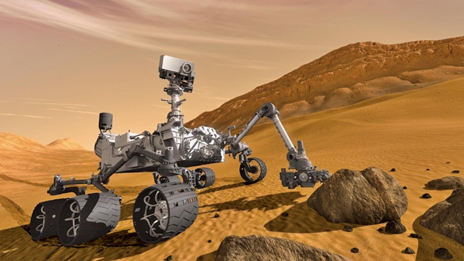 自2012年降落在蓋爾隕石坑以來,美國太空總署(NASA)「好奇號」火星探測器一直在研究其輪子下方的火星表面,以了解有關這顆紅色星球歷史的更多信息。(NASA)