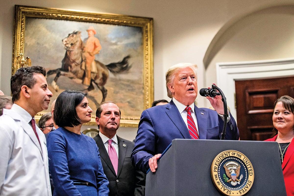美國總統特朗普表示,他將慎重考慮佩洛西提議的書面作證。(Getty Images)