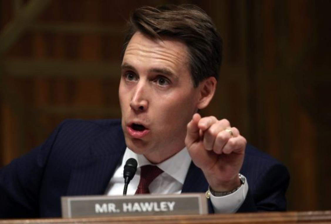參議員霍利(Joshua Hawley)資料圖片。(Win McNamee/Getty Images)