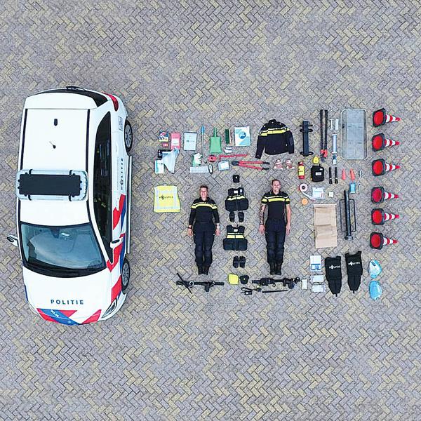 樂高挑戰席捲全球 台灣警察和海巡署也不缺席