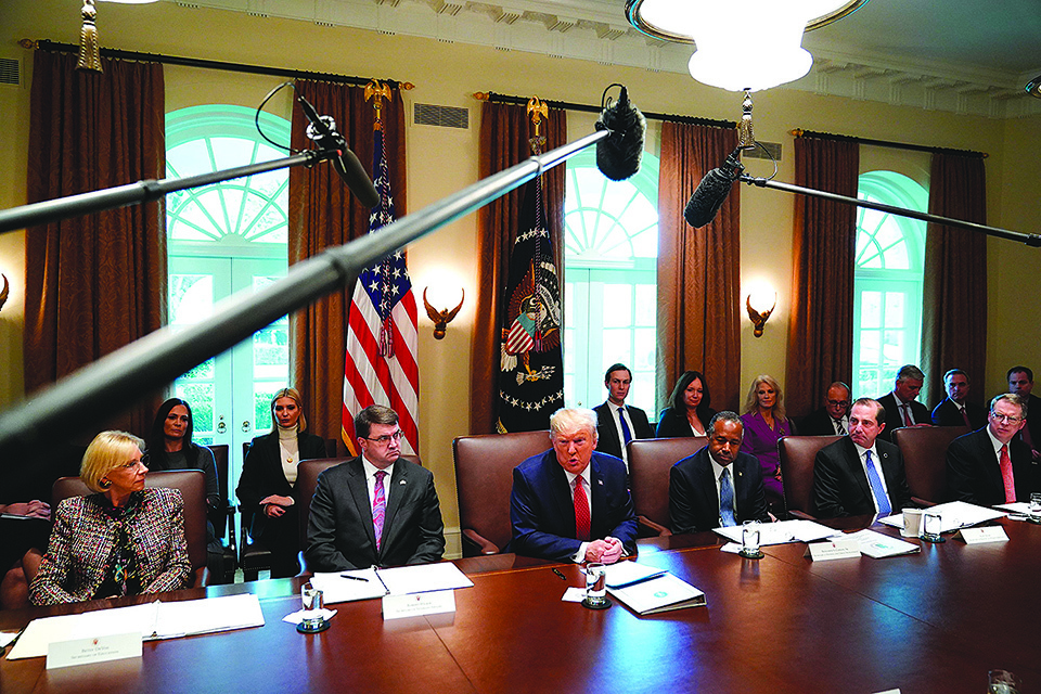 美國總統特朗普週二(11月19日)表示,已將部分對中國商品徵收的關稅,補償給受影響最大的美國農民。(AFP)