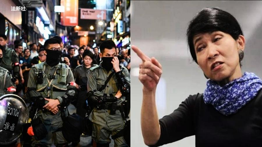 香港「毛姨」飆罵港警 網友:大快人心