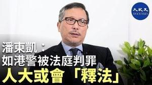【珍言真語】潘東凱:如警察被法庭判罪,人大或會「釋法」為其脫罪