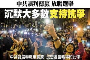 中共誤判穩贏 放膽選舉 沉默大多數支持抗爭