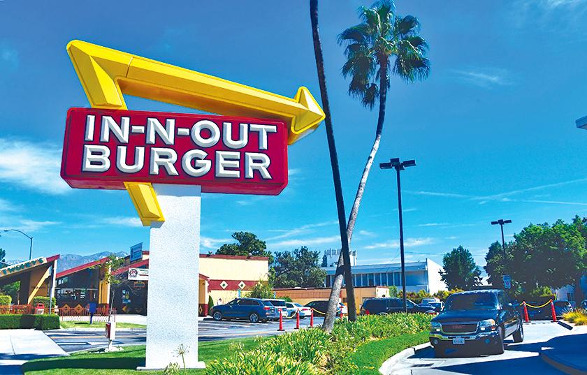 In-N-Out漢堡是美國西岸相當受歡迎的速食店。