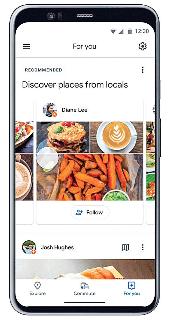 谷歌地圖推出新功能,給出當地遊覽首選,希望吸引用戶與商家互動。(Google)
