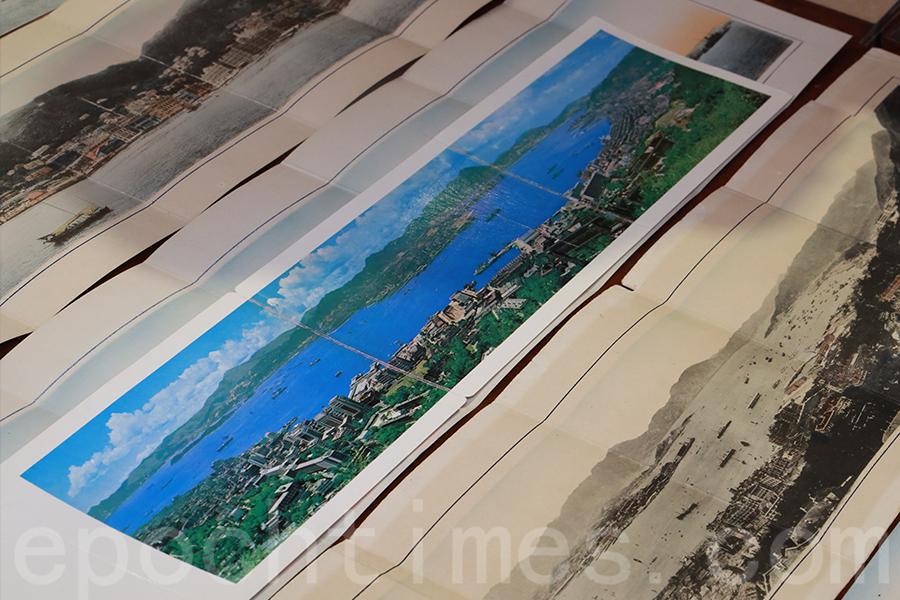 20世紀60年代的香港全景圖,60年代的全景明信片中,可以看到填海的痕跡延伸至愛丁堡廣場。(陳仲明/大紀元)