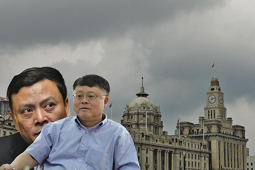 相較於江澤民的大兒子、人稱中國第一貪的江綿恆(前),弟弟江綿康(後)在媒體上一貫低調,但卻在掌控上海城鄉建設和交通委員會期間,撈取了難以計數的國家資源。(大紀元合成圖)