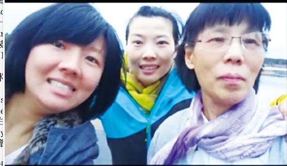母女三人團聚在芬蘭