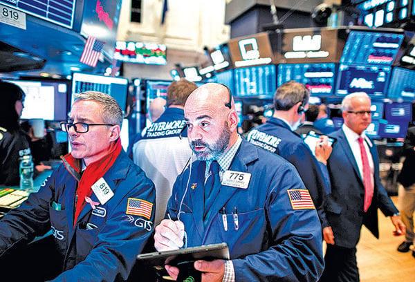受中美貿易談判進展激勵,美股11月月線大幅上漲。圖為11月14日,紐約證券交易所。(AFP)