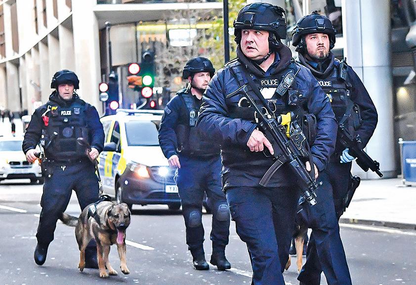 倫敦發生恐襲3死