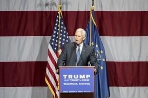 傳特朗普已選定印州州長為副手
