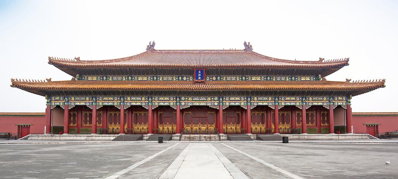 順治常在太和殿與大學士們論經辯道,表明他「以堯舜自期,動合古道」的抱負。圖為北京故宮太和殿。(Fotolia)