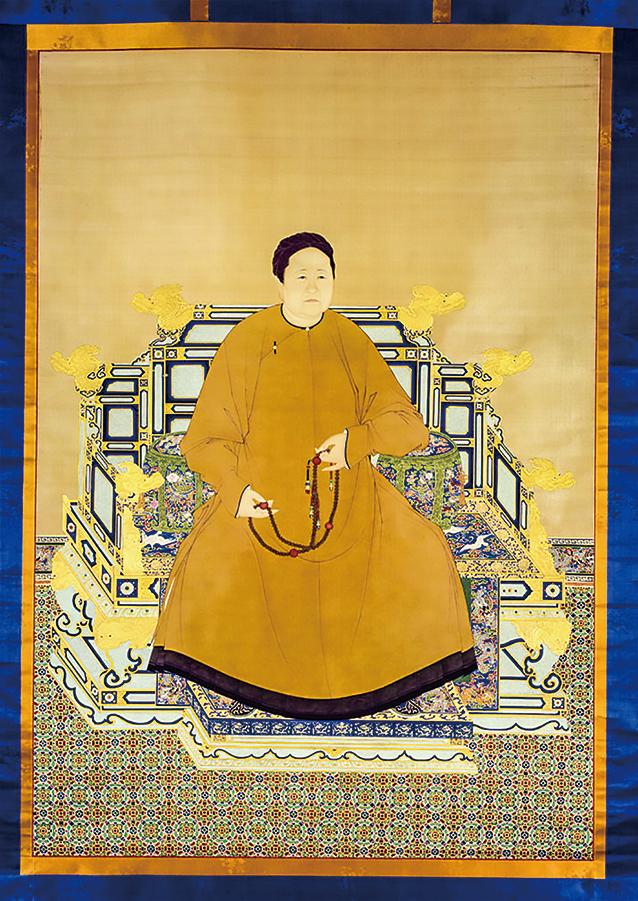 孝莊文皇后便服像軸 絹本設色,北京故宮博物院藏。(公有領域)