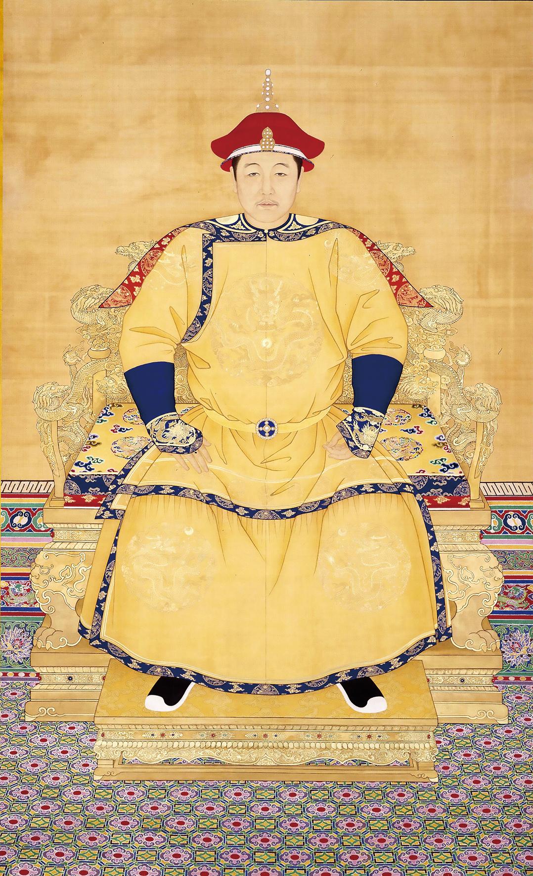 清 佚名《清世祖順治皇帝朝服像》。(公有領域)