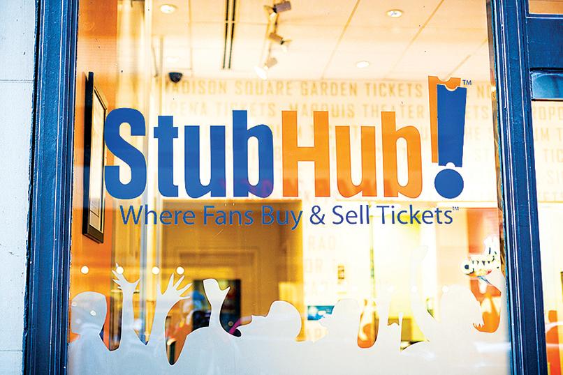 eBay於11月26日宣佈,將其票務業務的StubHub出售給原來的東家、瑞士票務提供商Viagogo。(Shutterstock)