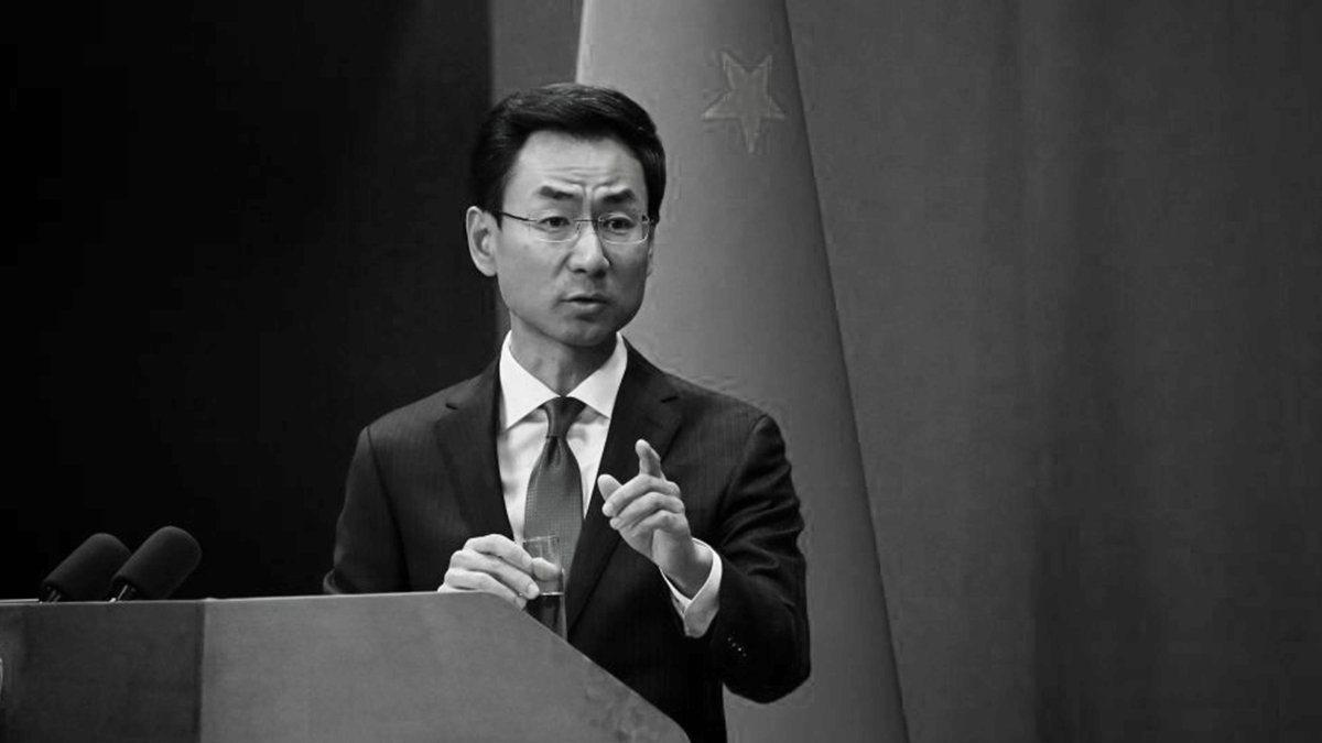 中共外交部發言人耿爽被指數外交部「廢話典範」。(WANG ZHAO/AFP via Getty Images)