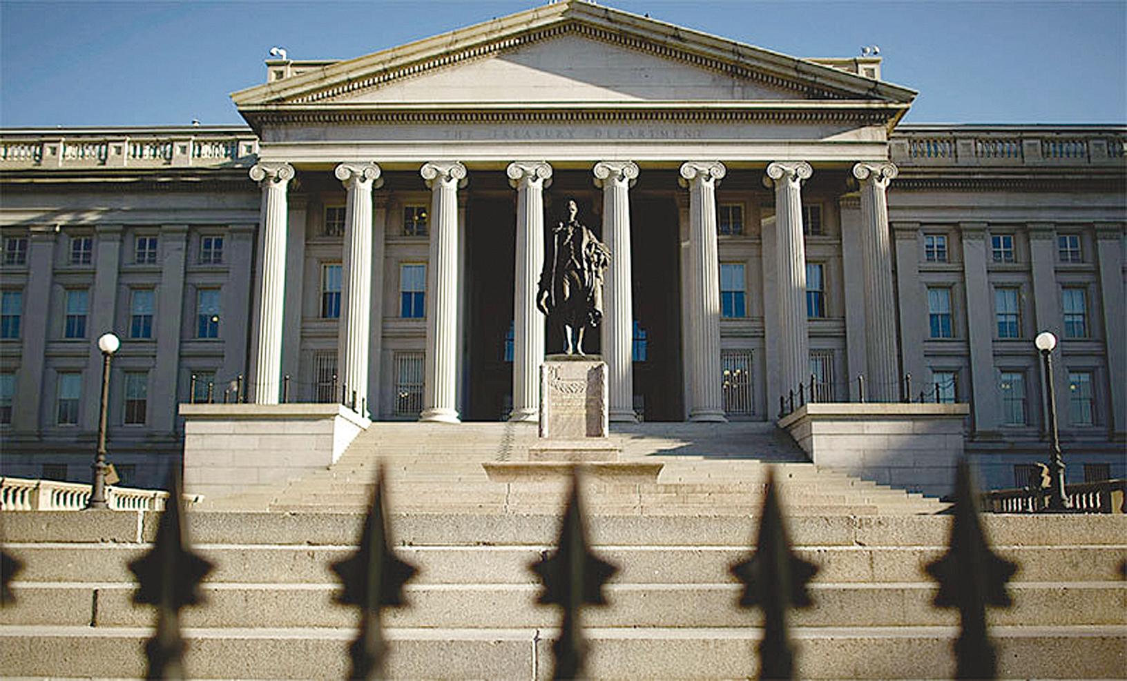 假如美國撤銷對中國的關稅,美國會後悔莫及。圖為美國財政部的大樓。(Getty Images)